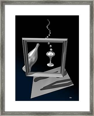 Silver Space Champagne Framed Print