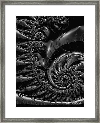 Silver Spiral  Framed Print by Heidi Smith