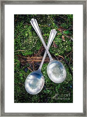 Silver Spoons  Framed Print by Edward Fielding