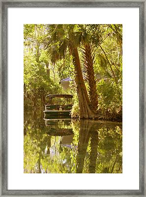 Silver Springs Glass Bottom Boats Framed Print by Christine Till