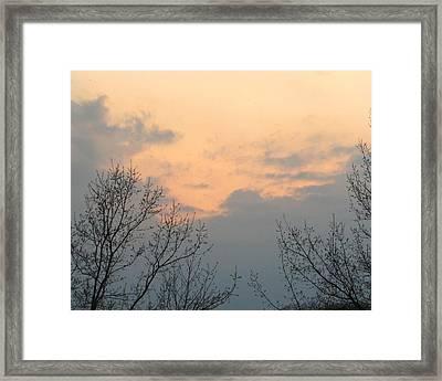Silver Springs Sky Framed Print by Jaime Neo