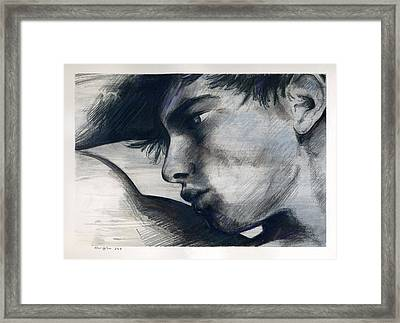 Silver Striped And Justified Framed Print