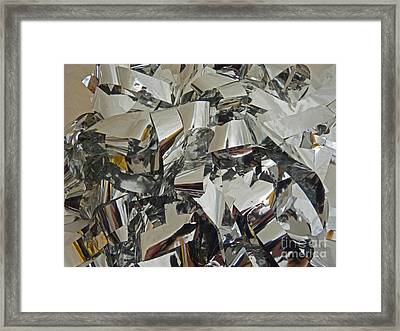 Silver Stripes Framed Print