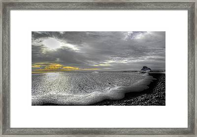 Silver Sunset Framed Print