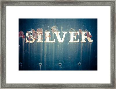 Silver Framed Print by Takeshi Okada