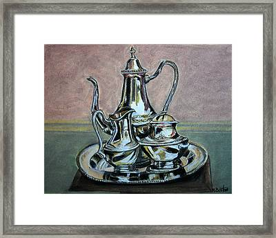 Silver Tea Set Framed Print