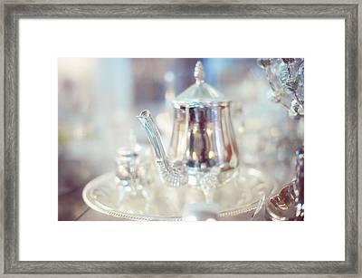 Silver Teapot Framed Print by Jenny Rainbow