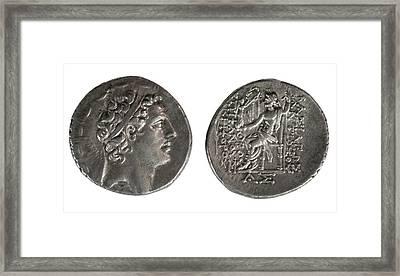 Silver Tetradrachm Coins Framed Print by Photostock-israel