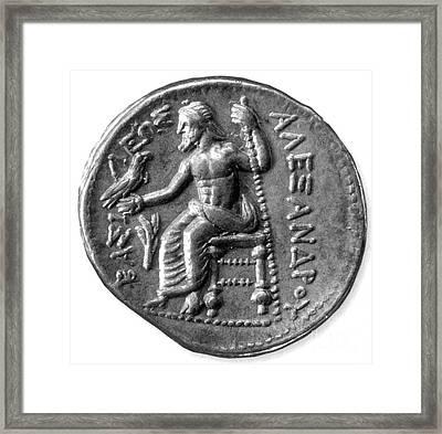 Silver Tetradrachm Of Alexander Framed Print