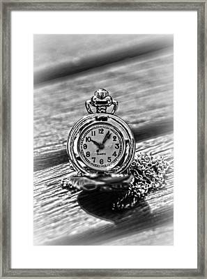Silver Timepiece 2 Framed Print by Kelly Hazel