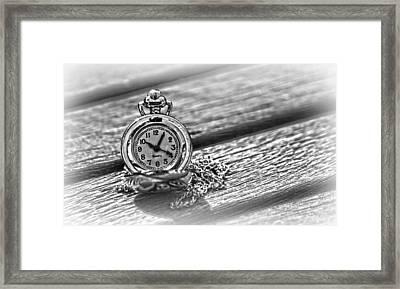 Silver Timepiece Framed Print by Kelly Hazel