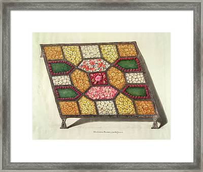 Silver Tray With Flowers Framed Print by British Library