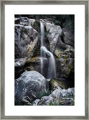 Silver Waterfall Framed Print