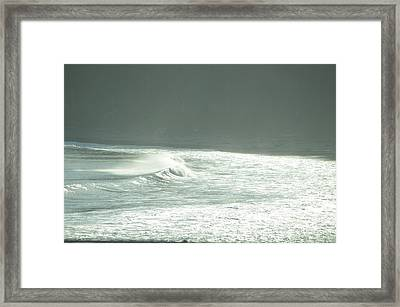Silver Wave Framed Print