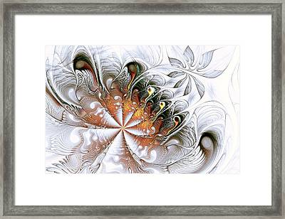 Silver Waves Framed Print
