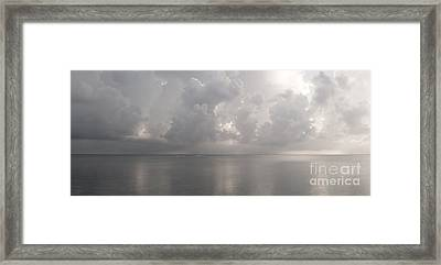 Silvern Sea Framed Print by Amar Sheow