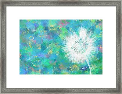 Silverpuff Dandelion Wish Framed Print by Nikki Marie Smith