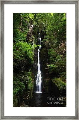 Framed Print featuring the photograph Silverthread Falls by Debra Fedchin