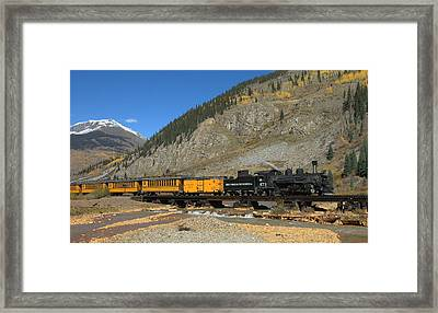 Silverton Train Framed Print by Jerry McElroy