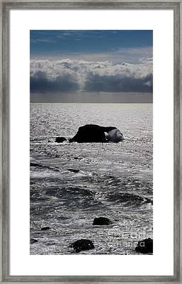 Silvery Ocean Sheen Framed Print by Wernher Krutein