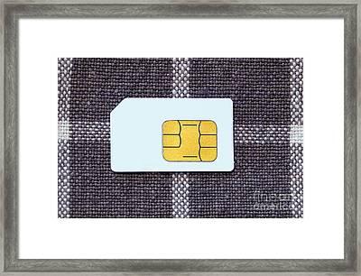 Sim Card Framed Print
