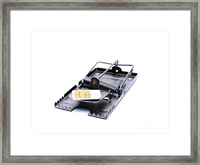 Sim Card Trap Framed Print
