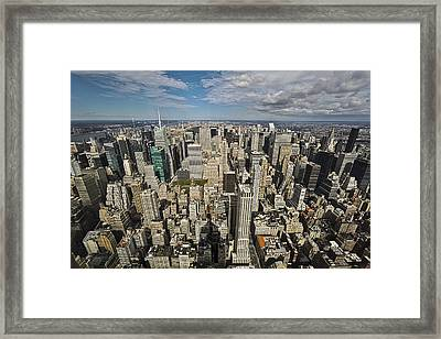 Framed Print featuring the photograph Sim City by Mihai Andritoiu