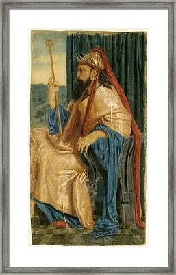 Simeon Solomon, King Solomon, British, 1840 - 1905 Framed Print by Quint Lox