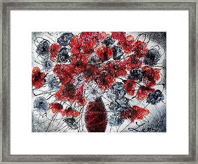 Simfoni Of Love Framed Print by Leon Zernitsky