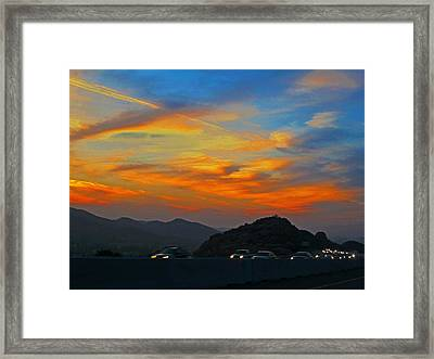 Simi Valley Outbound 1 Framed Print