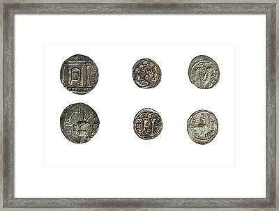 Simon Bar-kokhba Coins Framed Print