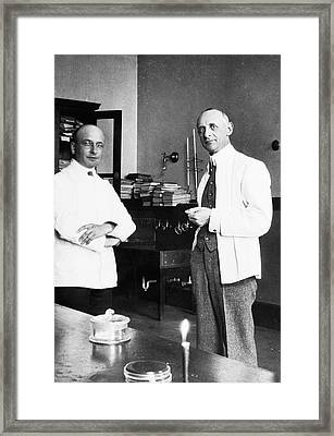 Simon Flexner And Alexis Carrel Framed Print by American Philosophical Society