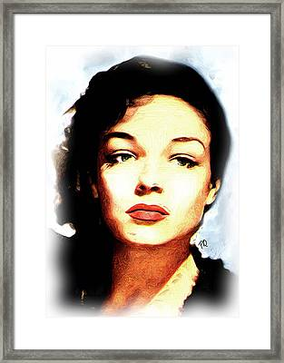 Simone Signoret Framed Print by Paul Quarry