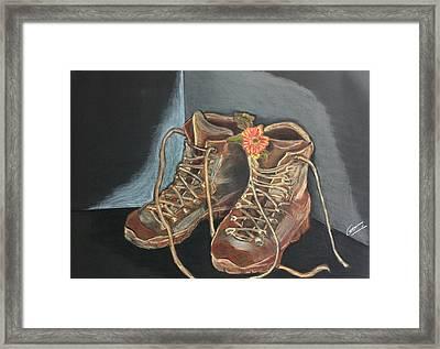 Simon's Boots Framed Print