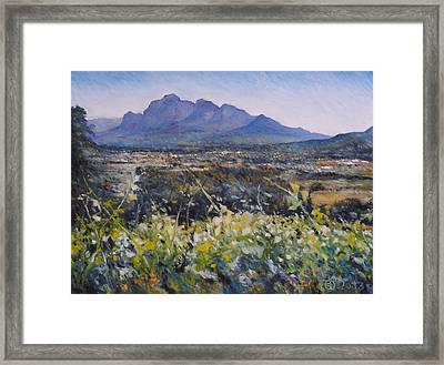 Simonsberg Cape Town South Africa Framed Print by Enver Larney