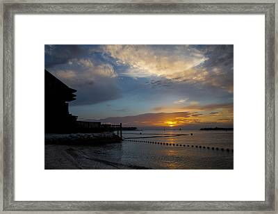 Another Sunset In Paradise Framed Print by Maria Robinson