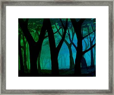 Simple Blues Framed Print