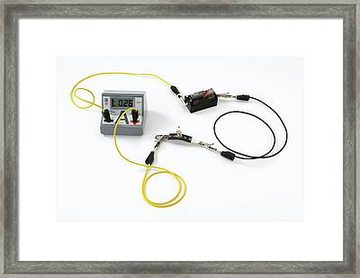 Simple Circuit To Measure Amps Framed Print by Trevor Clifford Photography