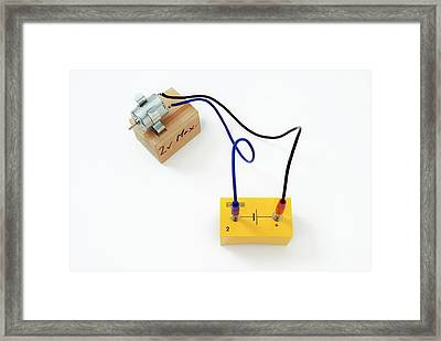 Simple Circuit With Motor Framed Print