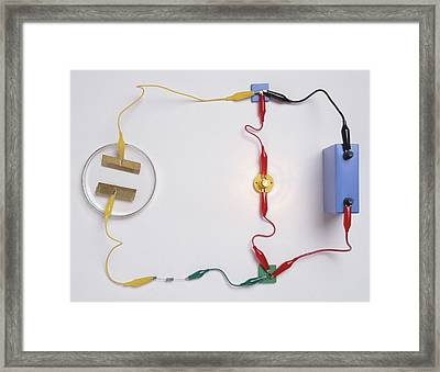 Simple Electronic Circuit Detects Water Framed Print