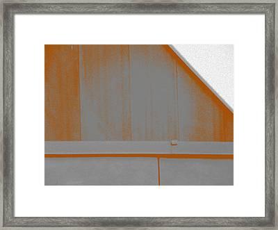 Simple Geometry - 3 Framed Print by Lenore Senior