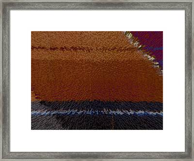 Simple Geometry - 5 - Mexican Blanket Framed Print by Lenore Senior