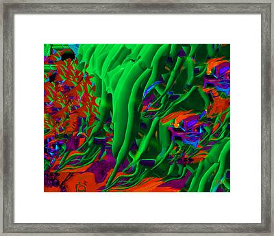 Simple Green Framed Print