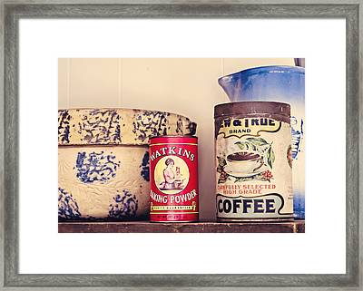 Simple Kitchen Framed Print by Heather Applegate