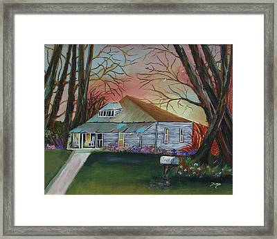 Simple Living Framed Print by Dina Jacobs
