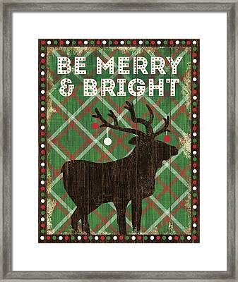 Simple Living Holiday Be Merry Framed Print by Michael Mullan