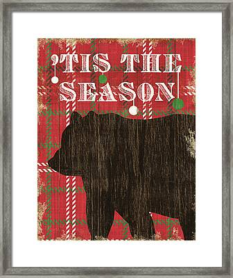 Simple Living Holiday Bear Framed Print by Michael Mullan