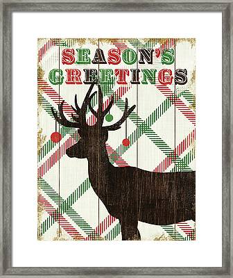 Simple Living Holiday Deer Framed Print by Michael Mullan