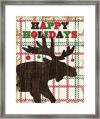 Simple Living Holiday Moose Framed Print by Michael Mullan