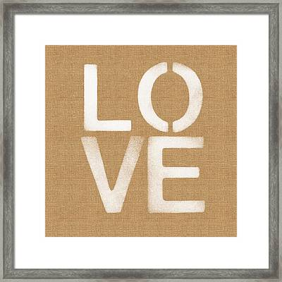 Simple Love Framed Print